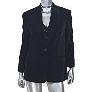 Bloomingdale's  Black Velvet Cotton Blazer Sz 8